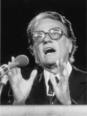 In 1980, the Rev. Billy Graham led a 10-day crusade in Indianapolis at Market Square Arena.