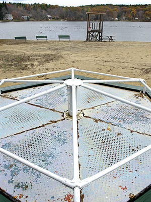 The beach at Luther Hill Park is closed Wednesday and is expected to remain closed on Thursday because of an outbreak of blue green algae.