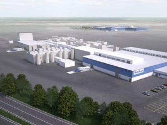This artist's rendering shows what the revamped Rolls-Royce facility will look like.