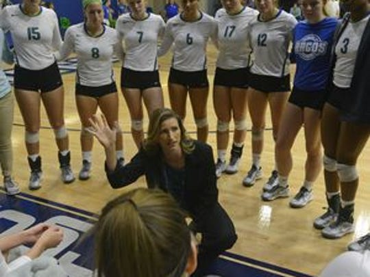 UWF volleyball coach Melissa Wolter will lead her team into 10th annual Pack It Pink game on Saturday against North Alabama. She was diagnosed 10 years ago with breast cancer and the event Saturday recognizes others like Wolter who have been cancer survivors.
