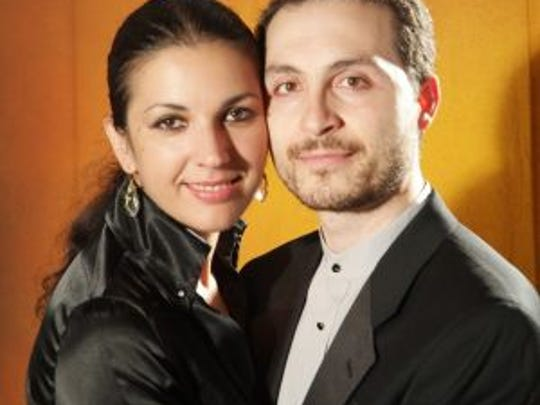Husband-wife duo Antonio Pompa-Baldi and Emanuela Friscioni, both pianists, will be playing at the Nevada Chamber Music Festival in late December.