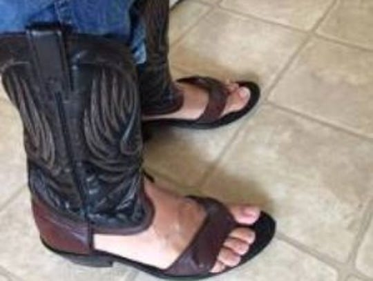 Redneck Boot Sandals are cowboy boots that have been
