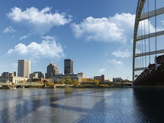 A view of the Downtown Rochester skyline.
