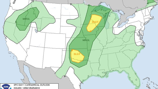Severe storms are possible across Wisconsin on Friday.