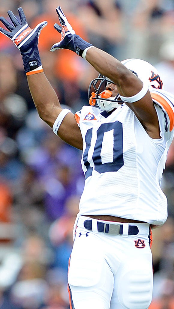 """Auburn wide receiver Stanton Truitt has been limited in fall camp due to a """"nagging hamstring."""""""
