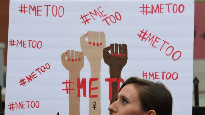 A #MeToo march in Los Angeles on Nov. 12, 2017.