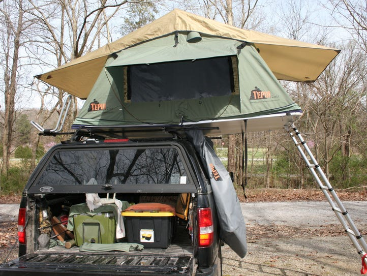 Roof top tents weigh about 120 pounds. The adjustable