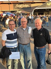 Best Friends - Lifelong friends David Burns, Charlie Sparrenberger and Bill Whitehead attended the Barrett-Jackson auto auction last week in Scottsdale, AZ.  All Harrison High graduates, David lives in Noblesville, IN; Charlie in Evansville; and Bill in Boylston, MA.