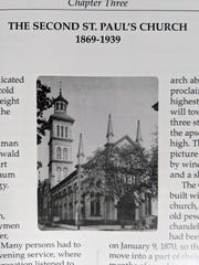 The second St. Paul's Lutheran Church in York stood between 1869 and 1939 at the current location of the York City Police building with the front entrance facing South Beaver Street. The Romanesque building was destroyed by an arsonist in 1939.