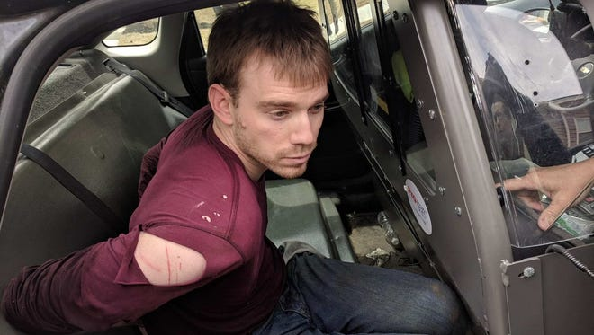 Travis Reinking, 29, of Morton, Ill., the suspect in the Waffle House shooting in Nashville's Antioch neighborhood, was arrested April 23, 2018.