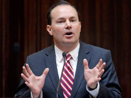 U.S. Sen. Mike Lee speaks to the Utah House of Representatives