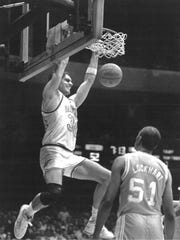 Frank Kornet, left, was an All-SEC player at Vanderbilt. His son, Luke, is a preseason All-SEC selection for the Commodores this season.