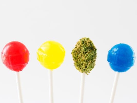 lollipops with marijuana bud