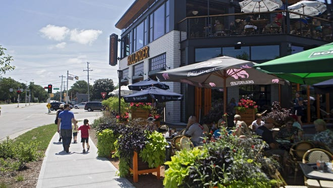 Cafe Hollander marks the beginning of the Mequon-Thiensville Town Center District. Groth Design Group is designing a gateway feature for the town center district on the opposite side of Cedarburg Road.
