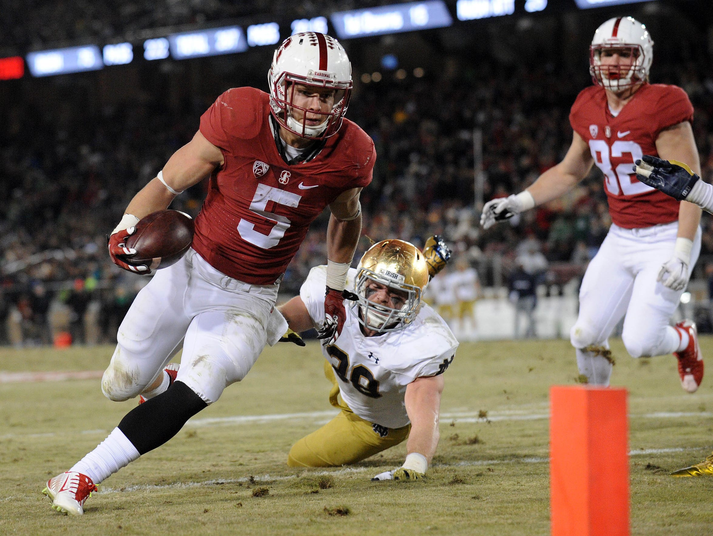 Whether running inside or outside, McCaffrey has rare
