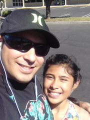 Jeremy Alcaraz takes a selfie with his daughter Alyssa.