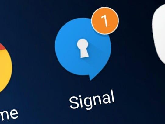The Signal encrypting app