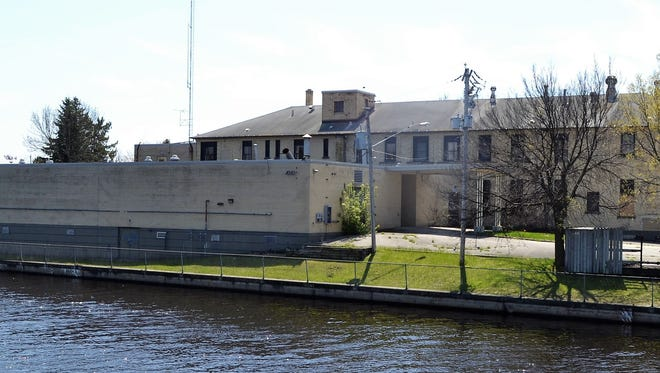 A view of the Oconto River side of the old hospital in Oconto. NEWCAP is working to raise money to renovate the structure for its offices.