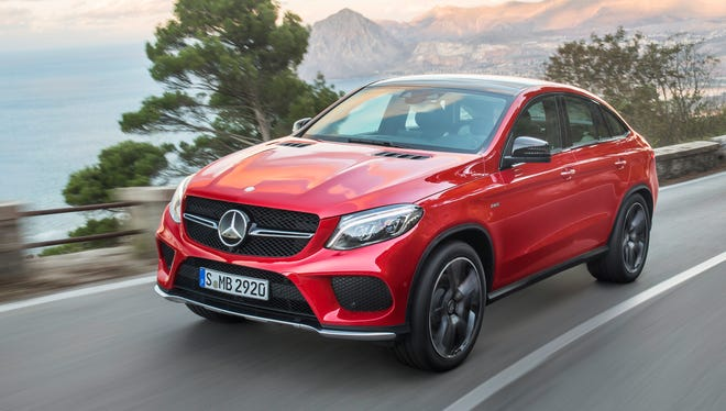 2016 Mercedes-Benz GLE spans between a truck and a coupe.