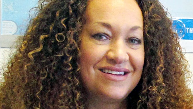 In this March 20, 2017, file photo, Nkechi Diallo, then known as Rachel Dolezal, poses for a photo in Spokane, Washington.