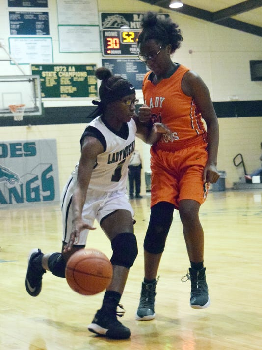 Rapides High School girls' basketball team faces off against Lakeview High School Thursday, Feb. 15, 2018. Rapides won 69-53.