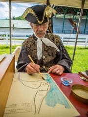 Jon Soule from Quechee portrays Chevalier Francois-Gaston Levis and highlights the importance of waterways during the 18th century.