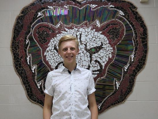 Dryden High School Valedictorian Mark Dodici.