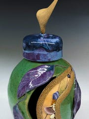 Pottery by Pat Black, part of the annual pottery show