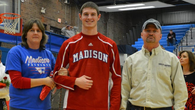 Madison senior Josh Rice has committed to play college basketball for Belmont-Abbey.