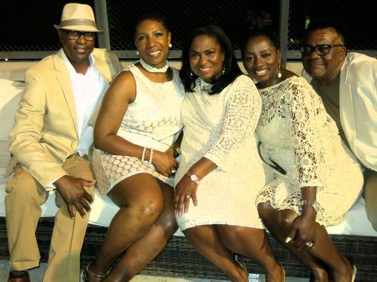 Big O's Odis Johnson and wife Drenette, Tari Bradford,