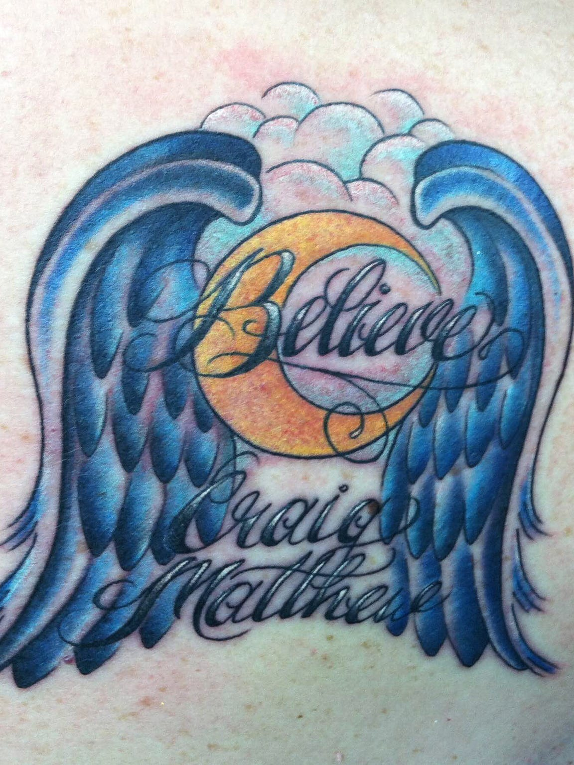 Cindi Byersmith has this tattoo on her back to commemorate