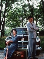 """1989 Jessica Tandy and Morgan Freeman in """"Driving Miss"""