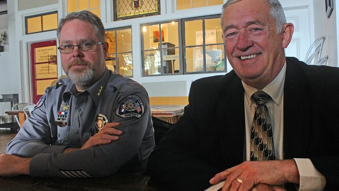 Fremont County Sheriff Allen Cooper (right) and Undersheriff Derek Irvine have overhauled the sheriff's office in two years and hope for continue support from taxpayers.