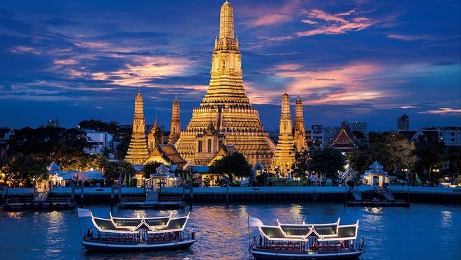 Unforgettable experiences like seeing Wat Arun (Temple of Dawn) in Bangkok are on sale during USTOA's Travel Together Month.