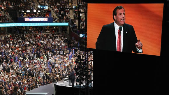 New Jersey Gov. Chris Christie speaks during the Republican