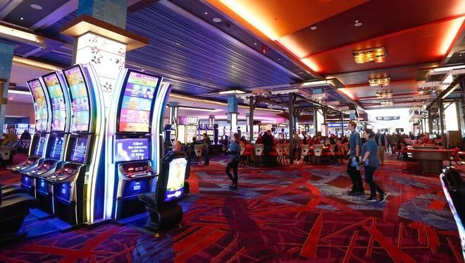 The casino floor at Resorts World Catskill Casino in Monticello on Thursday, February 8, 2018.