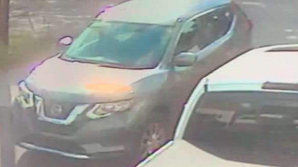 Police said this Nissan was involved in an abduction in Providence Monday.