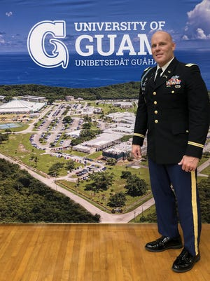 Tom Anderson of Geneseo, an Infantry Officer with the United States Army, is serving a four-year assignment at the University of Guam. Contributed Photo