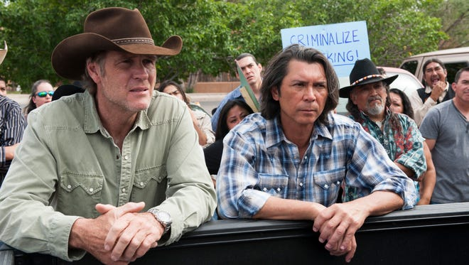 """Robert Taylor and Lou Diamond Phillips star in """"Longmire,"""" which Netflix is rescuing from cancellation."""