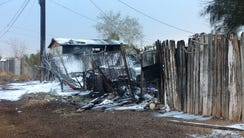 Backyard Phoenix fire, Monday Sept. 26, 2016.