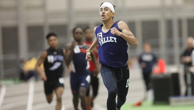 Aesh Patel of Wayne Valley helped lead his team to a repeat title at the Big North Independence meet on Tuesday at the Armory Track Center in New York. He won the 200 and 400 events, took second in the 55 and anchored the winning 4-x-400 relay.
