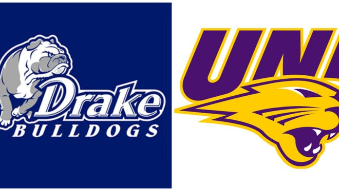Drake and Northern Iowa logos