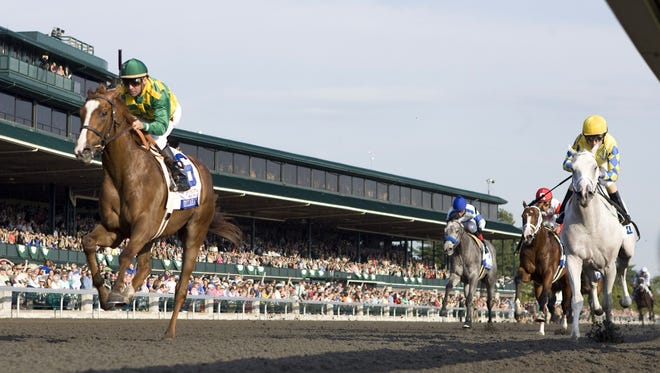 Dullahan, left, is one of two Kentucky Derby horses owned by the Iowa-based Donegal Racing that placed third in the nation's most famous race. Dullahan took third in 2012.