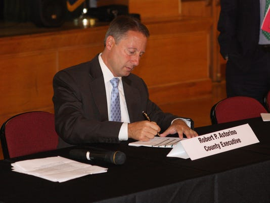 Astorino signs shared services plan