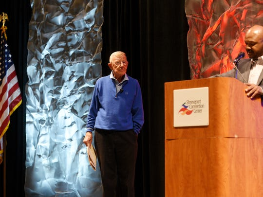 Lou Holtz speaks at LHSCA Convention Wednesday afternoon at the Shreveport Convention Center.