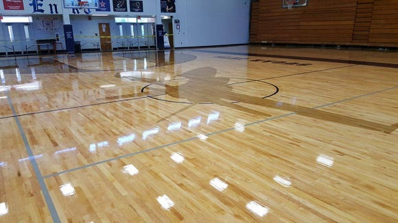 Enka's new gym floor.