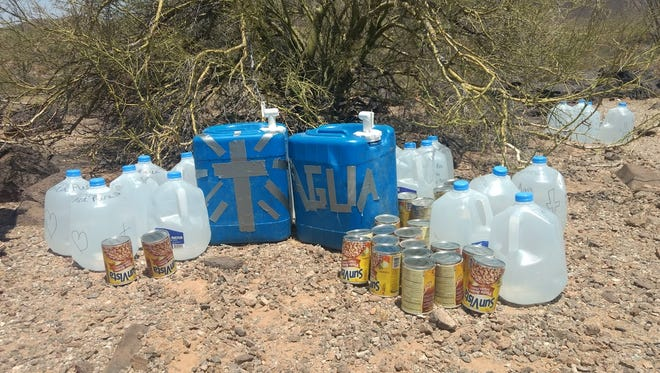 The Cabeza Prieta National Wildlife Refuge and the Barry M. Goldwater Air Force bombing range have threatened to sue, fine or ban visitors for leaving behind humanitarian aid.