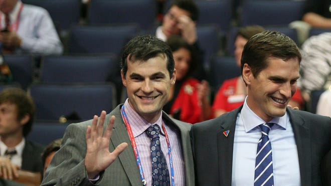 Josh Romney, right, with his brother Matt, at the 2012 Republican National Convention in Tampa.