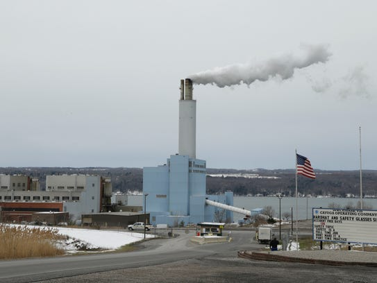 The Cayuga power plant was evacuated Wednesday morning