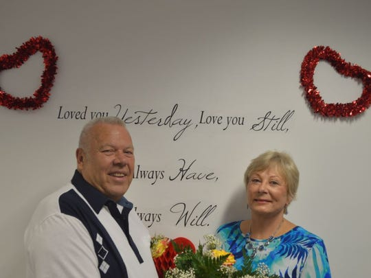 Lee Encott and Lynda Gayens are among couples married at Lee County Courthouse on Valentine's Day 2017